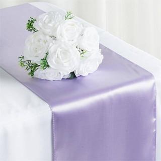 Satin Table Runner  Lavender