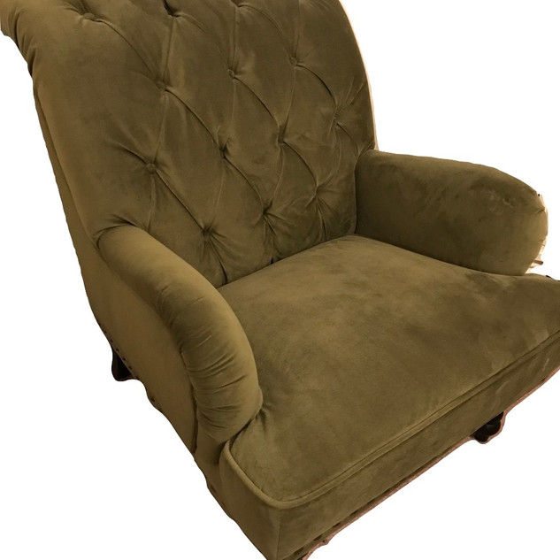 Tufted Chair - Willow Green