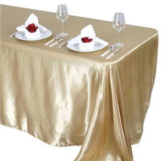Satin Rectangle Tablecloth Champagne