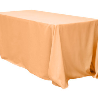 90 x 136inch Rectangle Polyester Tablecloth Peach