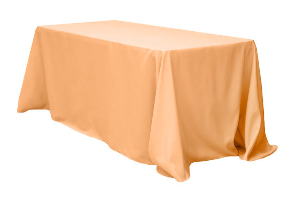 Polyester Rectangle Tablecloth Peach