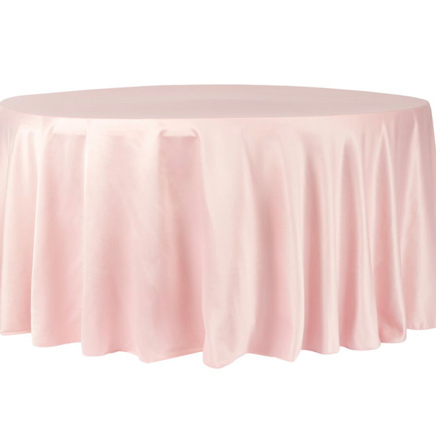 Polyester Round Tablecloth Blush