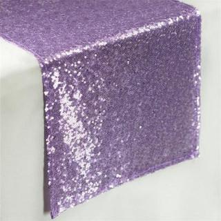 Sequin Table Runner  Lavender