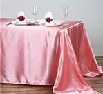 Satin Rectangle Tablecloth Rose Quartz