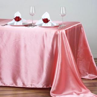 Satin Rectangle Tablecloth Rose Quartz
