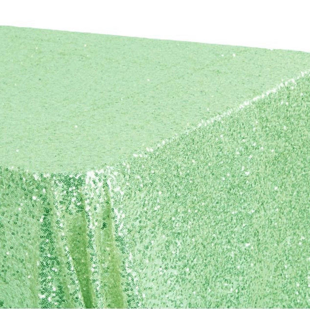 Sequin Rectangle Tablecloth Mint