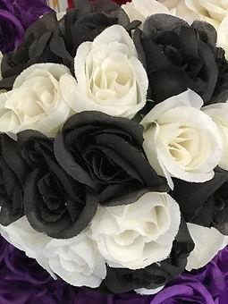 Flower Kissing Ball Black & White 7_