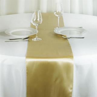 Satin Table Runner  Champagne