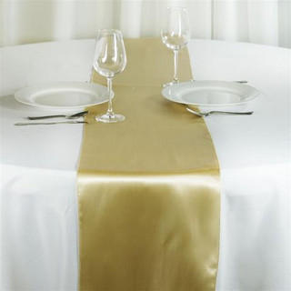 Satin Table Runner  Champagne