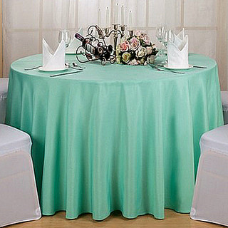 108inch Polyester Round Tablecloth Tiffany Blue