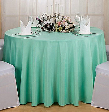 Polyester Round Tablecloth Tiffany Blue