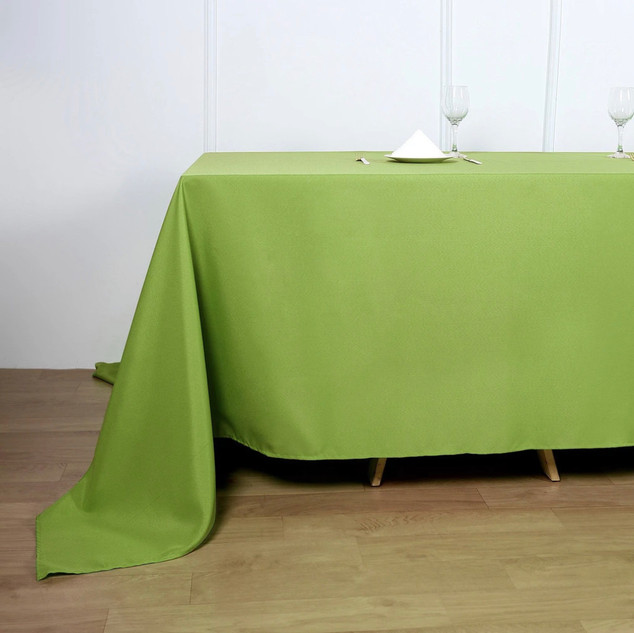 Polyester Rectangle Tablecloth Apple Green