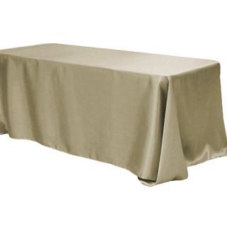 Satin Rectangle Tablecloth Taupe