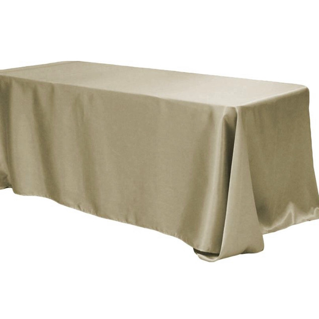 Satin Rectangle Tablecloth Taupe