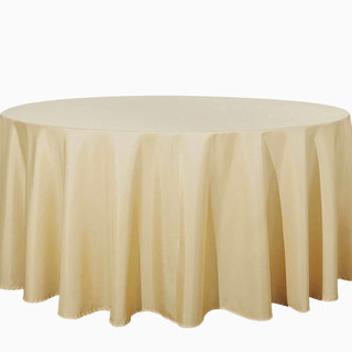 Polyester Round Tablecloth Champagne