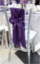 Wedding Sash styling - Vertical Bow