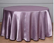 Satin Round Tablecloth Amethyst