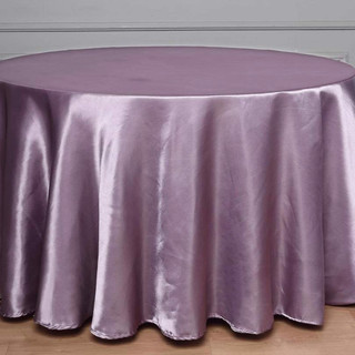 Satin Round Tablecloth Amethyst