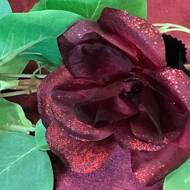 Bulk Flower Head Burgundy
