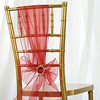 Organza Chair Sash Wine