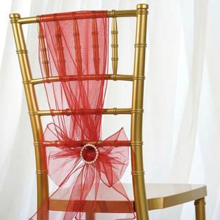 Organza Chair Sash Wine