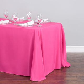 90x156 inch Polyester  Tablecloth Fuchsia