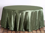 Satin Round Tablecloth Willow Green