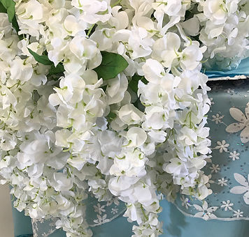 Accent Flowers - Wisteria White
