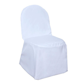 Banquet Polyester Chair Cover White