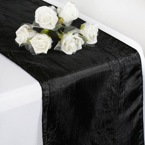 Taffeta Crinkle Runner  Black