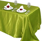 Satin Rectangle Tablecloth Sage Green