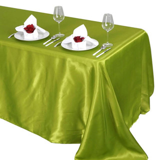 Satin Rectangle Tablecloth Sage Green