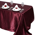 Satin Rectangle Tablecloth Burgundy