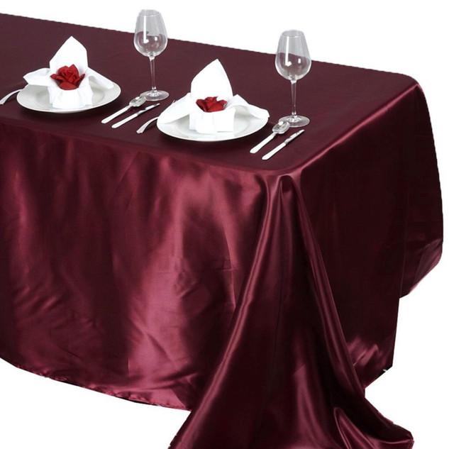Satin Rectangle Tablecloth Burgundy
