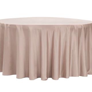 "120"" Lamour Satin Tablecloth Taupe"