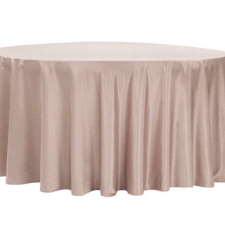 Lamour Satin Round Tablecloth Taupe