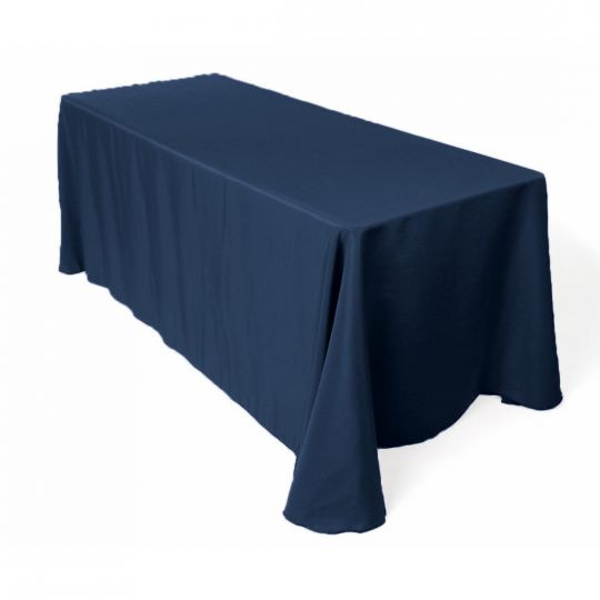 Polyester Rectangle Tablecloth Navy