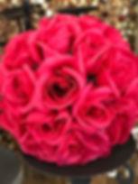 Flower Kissing Ball Hot Pink 7_