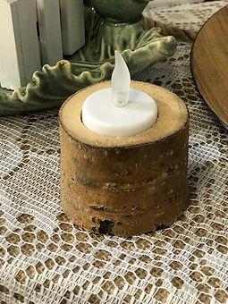 Rustic Log Tealight Holders 2.5inch.JPG