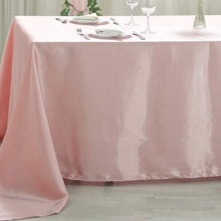 Satin Rectangle Tablecloth Dusty Rose