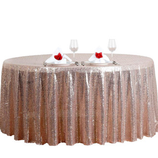 Sequin Round Tablecloth Blush