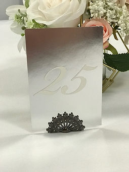 Table Numbers Set 1-20 Silver Mirror
