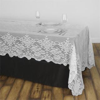 60x120 Lace Rectangle Overlay Ivory