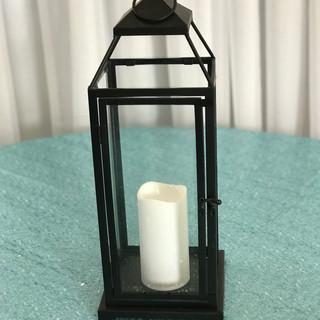 Extra Large Black Lantern with LED Pillar