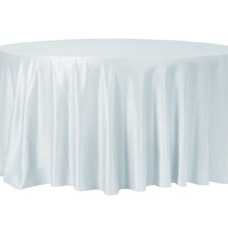 Lamour Satin Round Tablecloth Dusty Blue