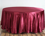 Satin Round Tablecloth Burgundy