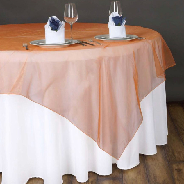 72 inch Organza Overlay Orange