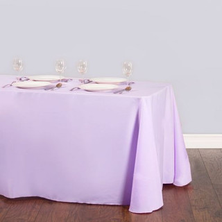 90x156inch Polyester Rectangle Tablecloth Victorian Lilac