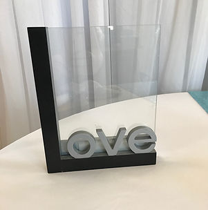 Love Sign or Photo Holder Silver