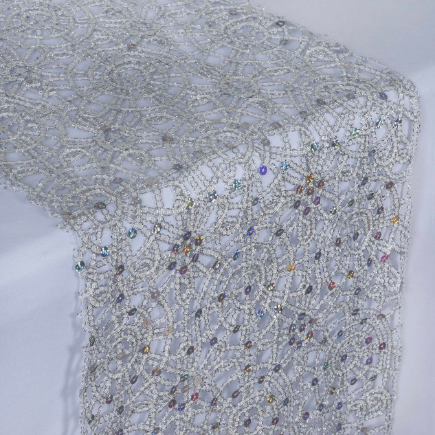 Chemical Lace Runner  Silver